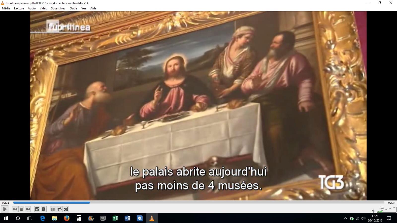 sous-titrage italien français reportage émission rai Palazzo Pitti traducteur interprète italien français Les mots de Gianni UCA Clermont Auvergne
