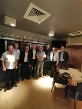 délégation italienne et membres comite organisateur congres anciens combattants interpretariat italien français